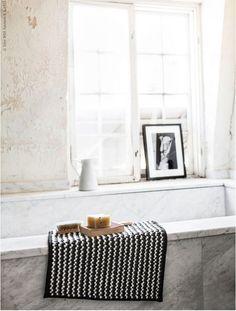 Badkamer badmatje en fotolijst