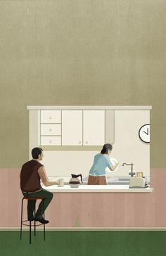 Raymond Carver - What We Talk About When We Talk About Love - illustration by SHOUT