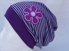 Mützen - Beanie Mütze Blume Flieder - ein Designerstück von Deichdesign bei DaWanda