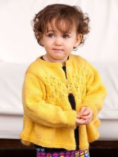 Free Knitting Pattern - Toddler & Children's Clothes: Swiss Miss Two-Button Cardi