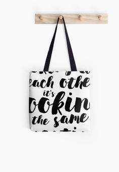 Looking at love, tote bag with beautiful love quote designed by whatafabday