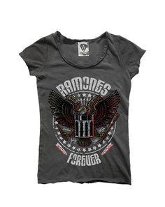 Image of Amplified Ramones Forever Ladies Crew Tee Shirt