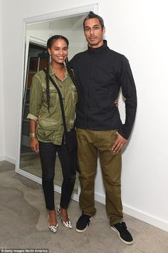 Mind your own business: She said the decision to have a family is between her and her husband, Dave Pope — but plenty of people butt in anyway (pictured in September Joy Bryant, Rude People, Minding Your Own Business, Beautiful Couple, Children, Kids, Military Jacket, September, Marriage