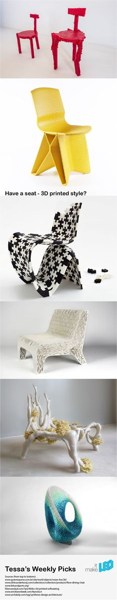3D printed chairs by different designers || Tessa's Weekly Picks ||
