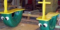 Resultado de imagen para parques infantiles hechos con cauchos