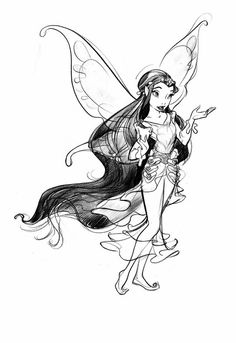 rani the fairy coloring pages - photo#13