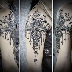 Inspo for my lace/henna shoulder piece.