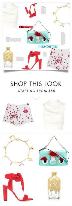 """Prints Charming: An oh my Shorts Story...."" by sofirose ❤ liked on Polyvore featuring Giamba, Keepsake the Label, IaM by Ileana Makri, Fendi, Jimmy Choo, Calvin Klein, B. Ella, Anja, shorts and prints"