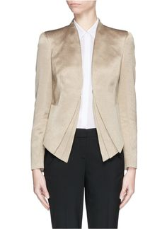 Armani Collezioni Triple layer hem wool blend jacket worn by Olivia Pope on Scandal. Scandal Fashion, Olivia Pope, Jacket Style, Blazer Jacket, Wool Blend, Cover Up, Brands Online, Fall 2015, Christian Dior