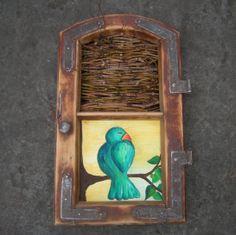 ptak w okienku - pracownia na deskach