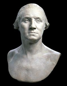 """""""George Washington"""" by Houdon (1785) Mount Vernon, Virginia. I have total confidence in Houdon. GW looked like this!"""