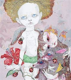 Read an intersting article about Australian artist Del Kathryn Barton here: Del Kathryn Barton / The Age / Saturday 31 May 2008 Del Kathryn Barton, Australian Artists, Aboriginal Art, My Tumblr, Watercolor And Ink, Oeuvre D'art, Art Blog, Les Oeuvres, Art Inspo