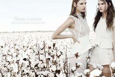 blanc canvas   Victoria Anderson and Vivian Witjes   Corrie Bond #photography   Marie Claire Australia August 2012