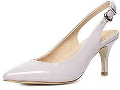 Womens ice lavender court shoe from Dorothy Perkins - £25 at ClothingByColour.com