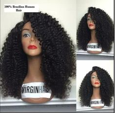 Cheap wig women, Buy Quality wig fringe directly from China wig curly Suppliers:         Wholesale 100% 6a virgin hair brazilian lace front human hair wig & glueless full lace wig kinky curly