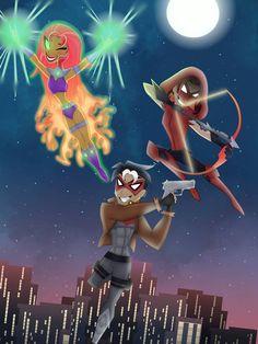 Undertale Pokemon, The Warlocks, Black Girl Cartoon, Dc Super Hero Girls, Cute Couple Videos, Star Butterfly, Bat Family, Nightwing, Cute Couples