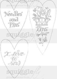 Valentine stitchery and digi-stamps on Squigglefly - by Diane Knott