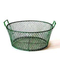 レトロなみどりのワイヤーバスケット http://dormitorica.com/?pid=101495840