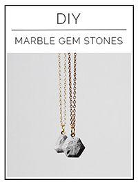 DIY marble gem stones