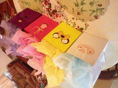 Adventure Time Party Bags- my sister & I made these for my nephews. Those are it ^