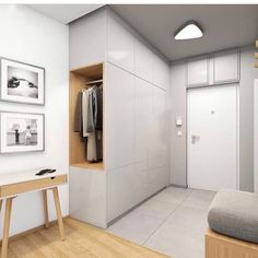 Eingang Stylish entrance and lobby inspiration as well as modern lighting ideas from the middle . Shoe Cabinet Design, Hall Wardrobe, Modern Wardrobe, Wardrobe Design, Hallway Closet, Corner Closet, Attic Closet, Entry Hallway, Closet Space