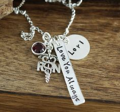 Hand Stamped | Nurse Necklace | Personalized RN Necklace | Nurse Graduation Gift | Nurse Gift | Gift for Nurse | RN Gift