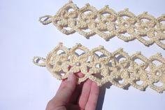 Curtain tie backs Pair of 2 crochet curtain by CrochetedCosiness