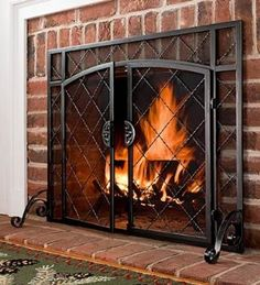 Catalog Spree - x Celtic Knot Flat Fire Screen FREE Hearth Gloves with Purchase - Offer Ends - Plow & Hearth Fireplace Gate, Fireplace Screens, Fireplace Design, Fireplace Mantels, Fireplaces, Fireplace Makeovers, Fireplace Cover, Mantles, Fireplace Ideas