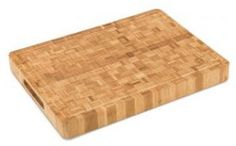 Large End Grain Bamboo Cutting Board | Professional, Antibacterial Butcher Block