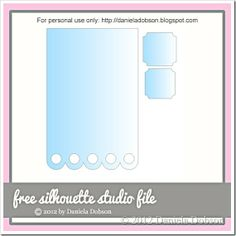 Scalloped Card with tag - free cut file created by Daniela at Create Your Everyday #Silhouette #CutFile