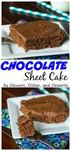 Chocolate Sheet Cake - a traditional rich, chocolate, Texas style sheet cake.  My family has been making this for YEARS!