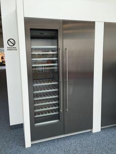 RVS Wijnklimaatkast met koelkast.
