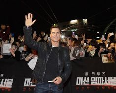 Tom Cruise and Paula Patton promote Mission: Impossible - Ghost Protocol in Korea