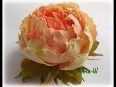 """МК Цветы из фоамирана """"Как сделать украшение с пионом из фоамирана"""""""