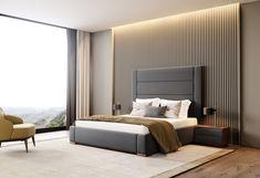 Contemporary bedroom interior design that very cozy 04 Bedroom Furniture Design, Sanctuary Bedroom, Bed Furniture Design, Room Design Bedroom, Luxurious Bedrooms, Modern Bedroom, Small Bedroom, Bedroom, Bedroom Headboard