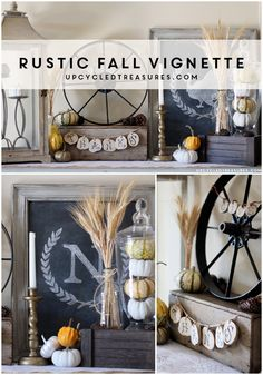Rustic Thanksgiving Vignette - Check out the evolution of my Rustic Thanksgiving Vignette! Plus I teamed up with Tiny Sidekick and So Much Better with Age