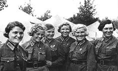 The Night Witches (the 588th Night Bomber Regiment of the Soviet Air Force).  All females. 40 two-person crews flew over 23,000 sorties & dropped 3,000 tons of bombs. The most highly-decorated female unit in the Soviet Air Force, each pilot flew over 1,000 missions by the end of the war many were awarded the Hero of the Soviet Union title. Thirty members died in combat.