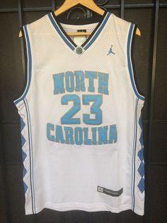23 Michael Jordan WHITE UNC North Carolina Tarheels Basketball Jersey-Adult f7a16013b