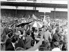 Landskampioen na 4-0 winst in het olympisch Stadion in Amsterdam 1959 OP DWS.A