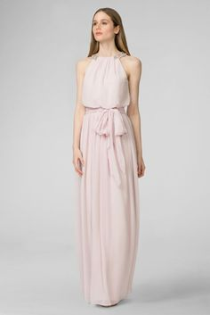141e81e5467 Peyton Chiffon Bridesmaid Dress with Bead Neckline Style W2446MDB Davids  Bridal