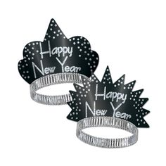 Sparkling Silver Tiaras are a fun and classy way to dress up a New Year's Eve party.