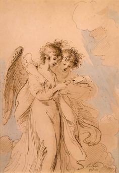 Two Angels Singing - Benjamin West, 1783