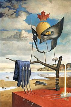 """Salvador Dalí Wolverine"", by Paolo Rivera. His version of The Persistence of Memory."