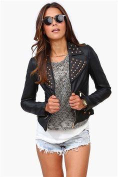 Biker Babe Jacket in Black