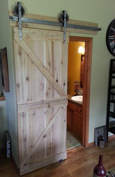 Custom Farmhouse Rustic Sliding Barn Door **made To Order