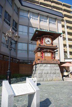 坊っちゃんカラクリ時計(愛媛・松山) Botchan Karakuri-tokei Clock, Matsuyama, Ehime, Japan
