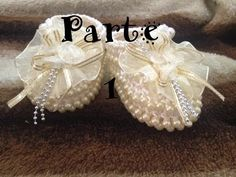 Crochet Shoes for Baptizing Tutorial 36 Part 2 of 2 Zapatitos para bautizo - YouTube