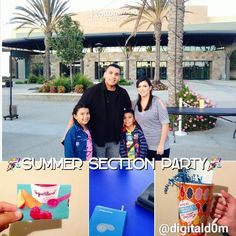"""Enjoyed the Summer Section Party @cottonwoodchurch with mi familia. Connected with cool people and we WON the RAFFLE TWICE!! (YogurtLand=wifey/Starbucks=Domzilla). Have a wonderful summer Fam stay connected to the places& people you love.⛅ #church #family #love #socal #cali #section201@digitald0m on Instagram ( Follow, like, comment) ///"