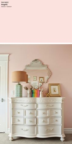 Street Design School: Pink and Gold Nursery Reveal wall paint Angelic by Sherwin Williams Girls Room Paint, Pink Bedroom For Girls, Pink Room, Little Girl Rooms, Pink Girl Rooms, Girl Bedroom Paint, Master Bedroom, Blush Pink Paint, Pink Paint Colors