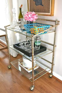 Styling a vintage bar cart @Carrie Mcknelly Mcknelly Mcknelly Waller of Dream Green DIY